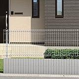 三協アルミ メッシュフェンスJE型 本体 H=600 JE1-2006-■ 【スチールフェンス 柵】  ダークブロンズ