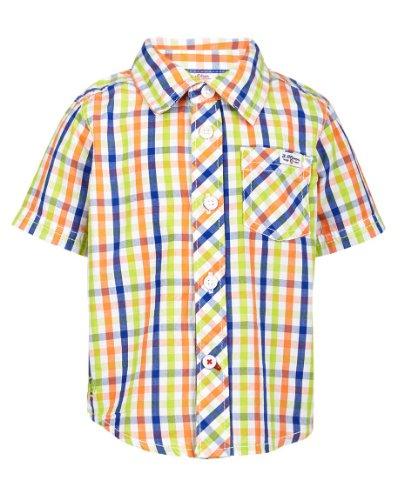 s.Oliver Baby - Jungen (0-24 Monate) Hemd 65.404.22.5144, Kariert, Gr. 80, Grün (green check)