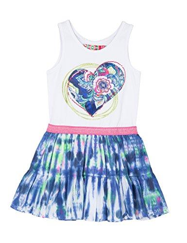 Desigual VEST_MORONI-Vestito  Bambina    Bleu (Azul Imperial) 8 anni