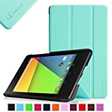Fintie SmartShell Case for Google Nexus 7 FHD 2nd Gen 2013 Android Tablet Ultra Slim Lightweight with Smart Cover Auto Wake / Sleep - Blue