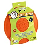 Jolly Pets 9-1/2-Inch Jolly Flyer Rubber Floating Disc, Orange