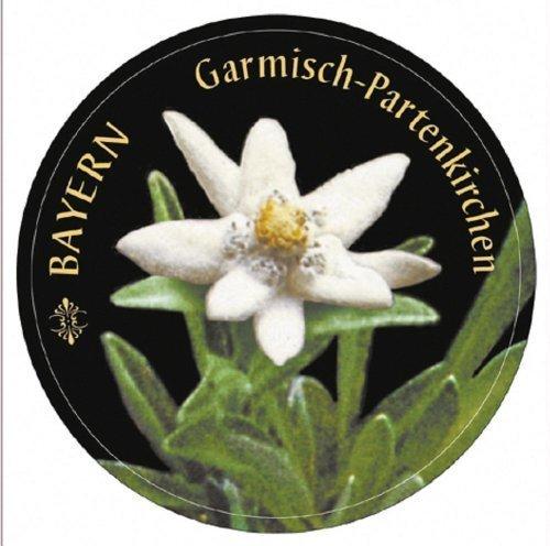 """PVC-Aufkleber """"BAYERN GARMISCH-PARTENKIRCHEN"""" NEU Gr. ca. 6cm (301666) Bayern Edelweiss"""