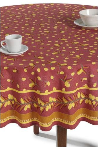 Tablecloth Olives Red/yllw 70