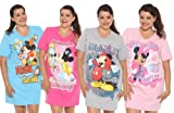 Disney Mickey Minnie Mouse + Friends V-Neck Sleep Shirt (One Size Fits Most)