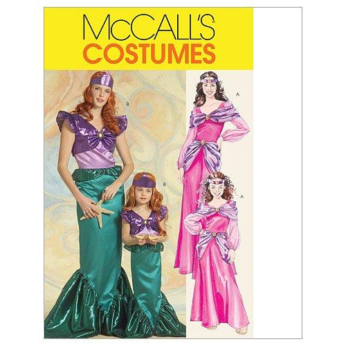 Mc Call's Schnittmuster 5498 Miss Kostüm Prinzessin & Meerjungfrau Gr. S-M-L-XL