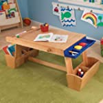 KidKraft Art Table with Drying Rack a...