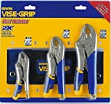 IRWIN Tools VISE-GRIP Locking Pliers Set, Fast Release, 3-Piece with Kitbag (1771882)