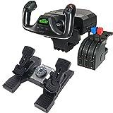 Logitech G Saitek PRO Flight Yoke System + Logitech Flight Rudder Pedals (Black)