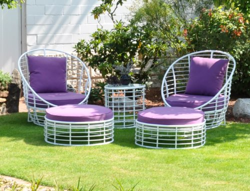Leco 29900112 Loungemöbel-Set Style 3-teilig lila