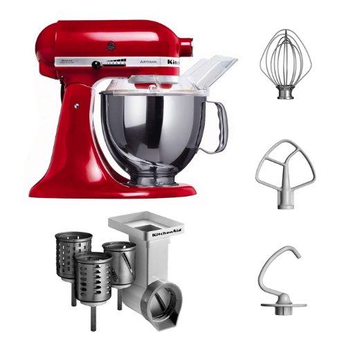 KitchenAid-KSM150PSEER-MVSA-KitchenAid-5KSM150PSEER-Robot-culinaire-Artisan-avec-accessoires-pour-tranchoirrpe--cylindres-Rouge-Import-Allemagne