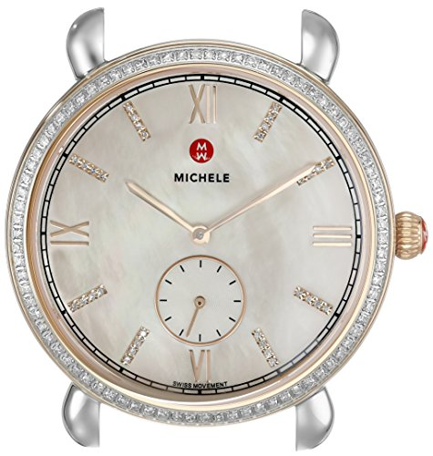 MICHELE-Womens-MW26A01D2046-Gracile-Analog-Display-Swiss-Quartz-Silver-Watch
