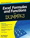 Excel Formulas and Functions For Dummies (047056816X) by Bluttman, Ken
