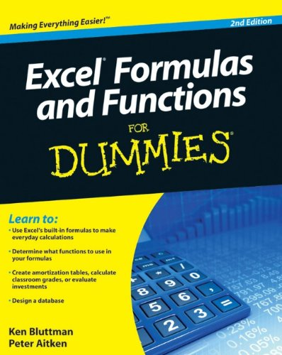 Excel Formulas And Functions For Dummies front-1071340