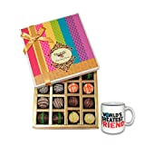 Colorful Treat To Your Friend With Friendship Mug - Chocholik Belgium Chocolates
