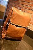 (イノセンティア) Innocentia 高級 本革 リュックサック カジュアル シンプル バック 鞄 メンズ レディース レザー 皮 バックパック 通勤 通学 軽量 大容量 2色展開 ブラック ブラウン (フリーサイズ, ブラウン)
