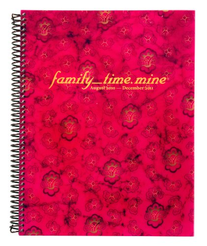 Dotmine Day Planner Tie-Dye family_time.mine 2010-2011, Pink (14543)