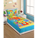 Swayam Kids N More Digital Print Cotton Single Baby Bedsheet With 1 Pillow Cover - Multicolor (SKB02-1003)