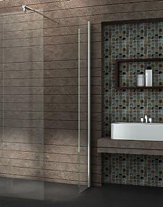 Walk In 10 mm Duschwand Duschabtrennung Duschkabine Dusche 40x200 cm AQUOSMini   Bewertungen