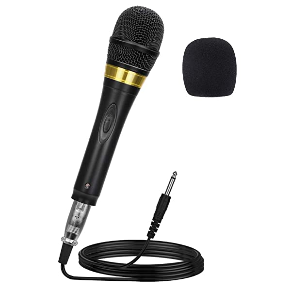 Ankuka Pro Vocal Dynamic Karaoke Microphone with XLR to 6.35mm Cable for Audio Connection, Professional Handheld Mic with 13ft Wire for Stage Karaoke