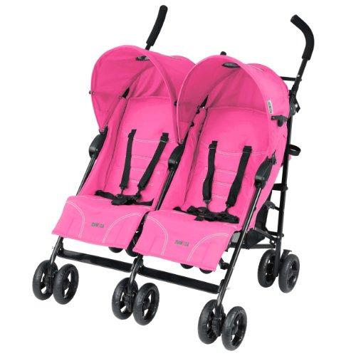 Mia Moda Facile Twin Stroller, Pink