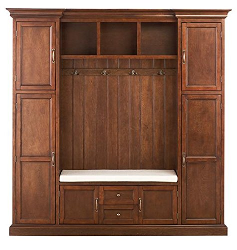 Best Review Of Royce All in one Mudroom, LARGE, SMOKEY BROWN
