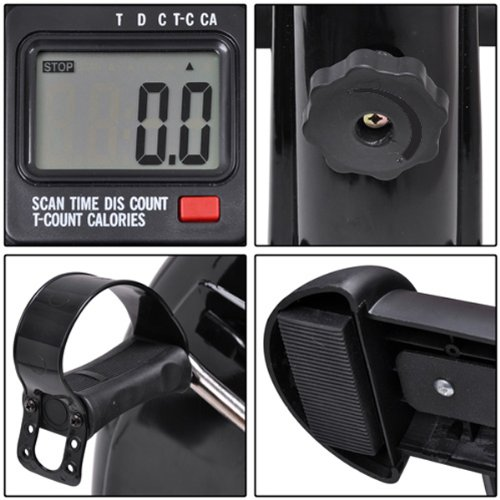 LCD Monitor Display Pedal Exerciser Portable Arm Leg Mini Exercise Machine Indoor Home Gym Cycling Trainer Equipment Physical Therapy Resistance Adjustable cycling trainer home training indoor exercise 6 speed magnetic resistances bike trainer fitness station bicycle trainer rollers