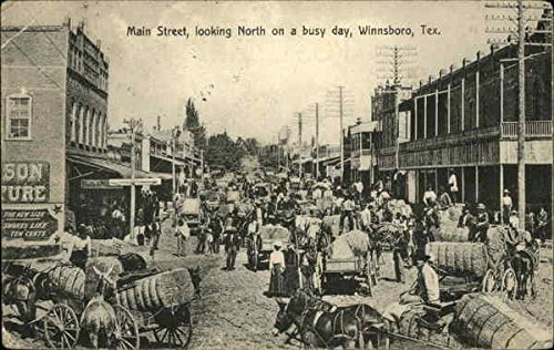 Main Street on a busy day in Winnsboro, Texas