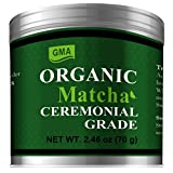 Organic Matcha Cememonial Grade Green Tea Powder, 2.46oz