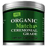 Organic Matcha Cememonial Grade Green Tea Powder, 2.46oz