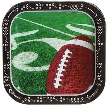 Football Plates Paper Party Supplies Supply Trays NFL Sports Tablecover Superbowl Game Day Tailgate 14 Plates (Pooh Football compare prices)