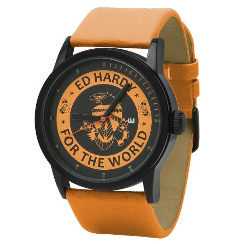 Ed Hardy Women's PK-OR Punked Orange Watch