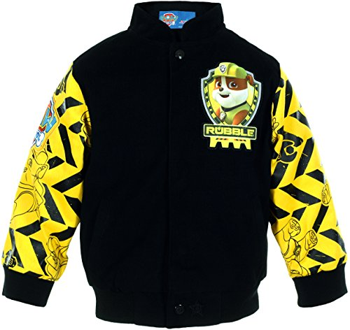 Paw Patrol Rubble Lets Dig It Boys Character Snap Up Jacket (7) (Paw Patrol Emblem compare prices)