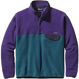 Patagonia Lightweight Synchilla Snap-T Fleece Jacket - Men\'s Underwater Blue/Purple, XL