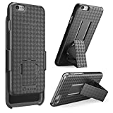 iPhone 6 Case, i-Blason Apple iPhone 6 Case 4.7 Transformer Slim Hard Shell Case Holster Combo with Kickstand and Locking Belt Swivel Clip for Apple iPhone 6 (Black)