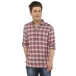Attila Men's Casual Shirt (11064837C0_Red Blue_44)