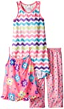 Komar Kids Girls 7-16 Flowers Chevron Pajama Set
