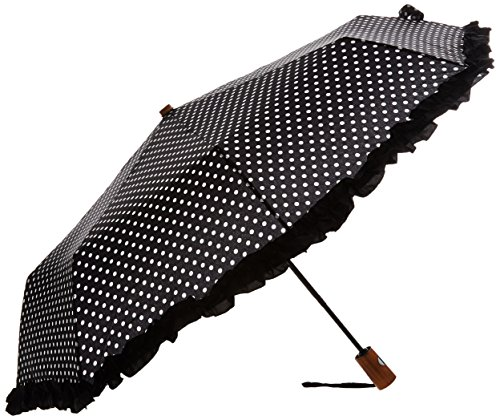 leighton-43-inch-arc-auto-o-c-wood-handle-black-white-dot-black-ruffle-one-size