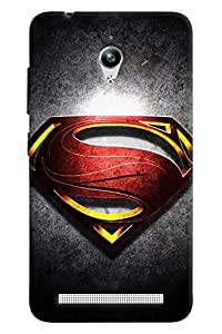 Clarks Superman Inspired Logo Hard Plastic Printed Back Cover/Case For Asus Zenfone Go (ZC500TG)