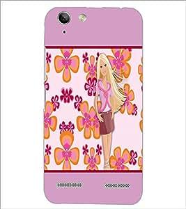 PrintDhaba Flower Girl D-1074 Back Case Cover for LENOVO LEMON 3 (Multi-Coloured)