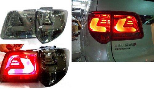 2012-2013 Toyota Fortuner Led Tail Lamp Light Rear Smoke Black Lens