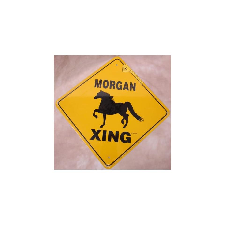 Morgan Horse Crossing Sign