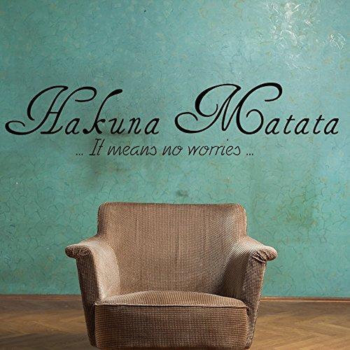 ambiance-live Adesivo da parete Hakuna Matata, Chocolate, 50 x 75 cm