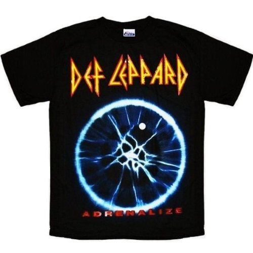 Def Leppard Adrenalize distressed black t-shirt (Medium)