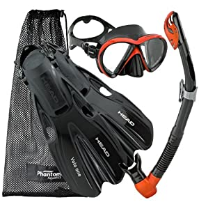 Buy Head by Mares Scuba Snorkeling Liquidskin Mask Fin Dry Snorkel Set by HEAD