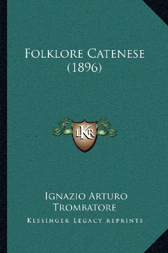 Folklore Catenese (1896)