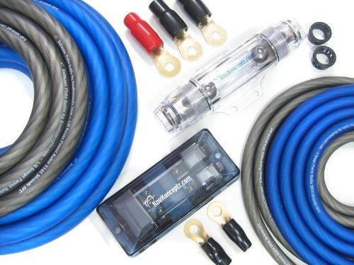 KnuKonceptz Kolossus Flex 0 Gauge OFC Dual Power Amp Installation Wiring Kit