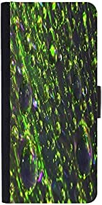 Snoogg Abstract Texture Drops Graphic Snap On Hard Back Leather + Pc Flip Cov...