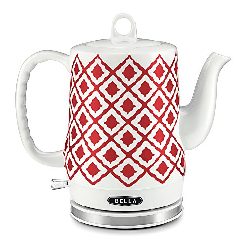 BELLA 1.2L Electric Ceramic Tea Kettle with detachable base and boil dry protection (Bella Microwave Red compare prices)