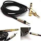 NewFantasia Replacement Audio Upgrade Cable for Sennheiser HD598 / HD558 / HD518 / HD598 Cs / HD599 / HD569 / HD579 Headphones, 1.2m/4feet (Color: the same as our picture show, Tamaño: 1.2m)