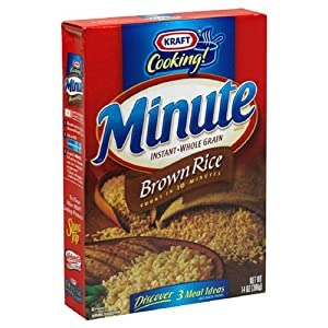 Kraft Minute Rice Instant Brown Rice, 14-Ounce Boxes (Pack